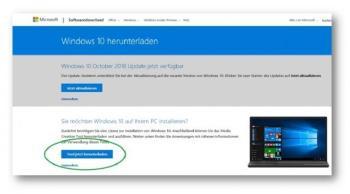 Windows 10 runterladen