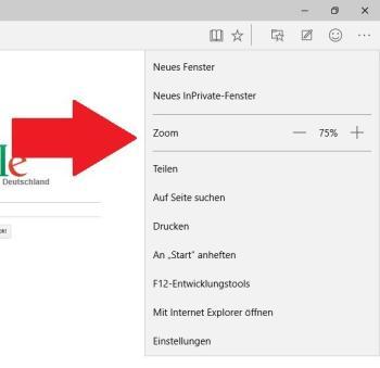 Webseiten mit Zoom vergrößern oder verkleinern
