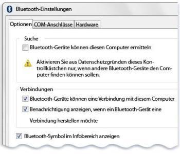 Windows Bluetooth Einstellungen