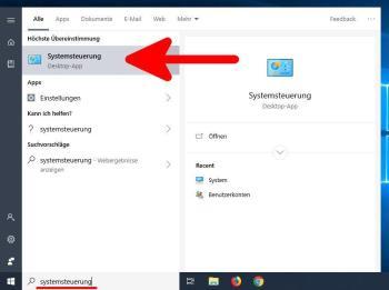 Windows 10 Systemsteuerung öffnen - alle Möglichkeiten