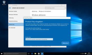Windows 10 nachfolgend mit Produkt Key aktivieren