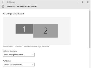 Zweiten Monitor konfigurieren