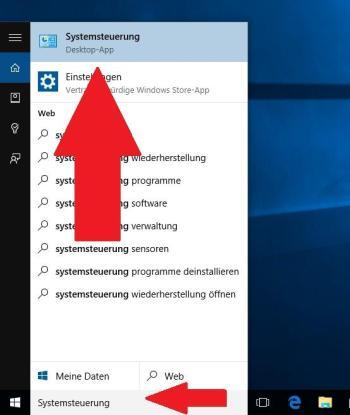 Windows 10: Systemsteuerung öffnen