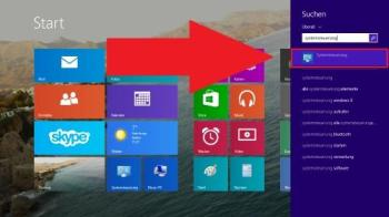 Windows 8: Systemsteuerung öffnen
