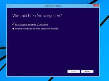 Media Creation Tool unter Windows