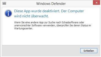 Windows Defender ausschalten
