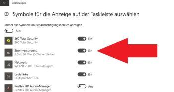 Laptop: Akkuanzeige verschwunden