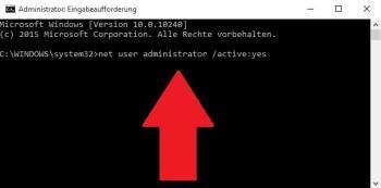 Windows 10: Administrator aktivieren