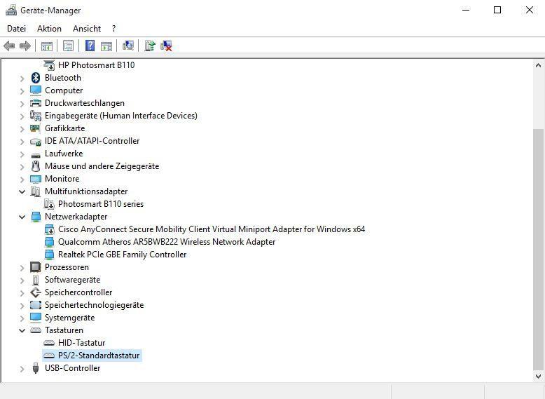 Tastatur funktioniert nicht in Windows 10 - das hilft