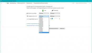 Windows 10: Standby abschalten