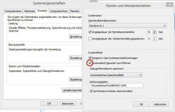 Windows fährt automatisch herunter