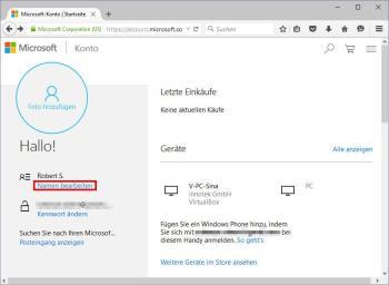 Windows 10: Ändern des Benutzernamens im lokalen Konto