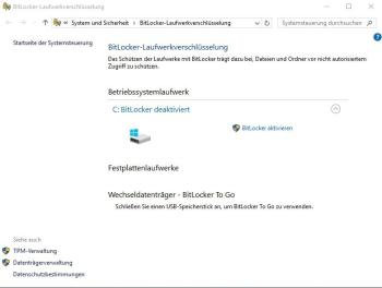 Laufwerk unter Windows 10 ohne TPM-Chip verschlüsseln