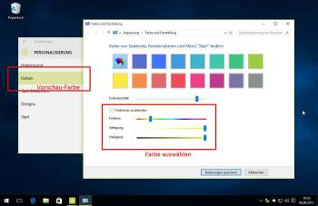 Beibehalten der Farbe Taskleistenänderung