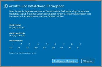 Windows 10 per Telefon aktivieren