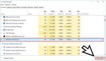 Apps über den Task Manager unter Windows 10 beenden
