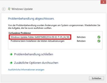 Windows Fehler 0x80070490 beheben