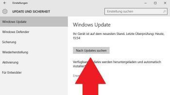 Windows 10: Update hängt