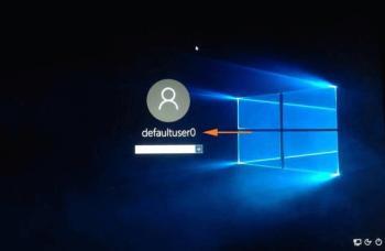 defaultuser0 erscheint beim Login und fragt nach Passwort