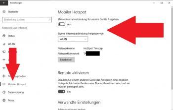 Hotspot unter Windows 10 erstellen