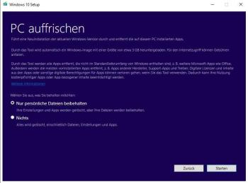 Windows 10 neu installieren