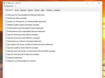 Windows 10 mit W10Privacy absichern