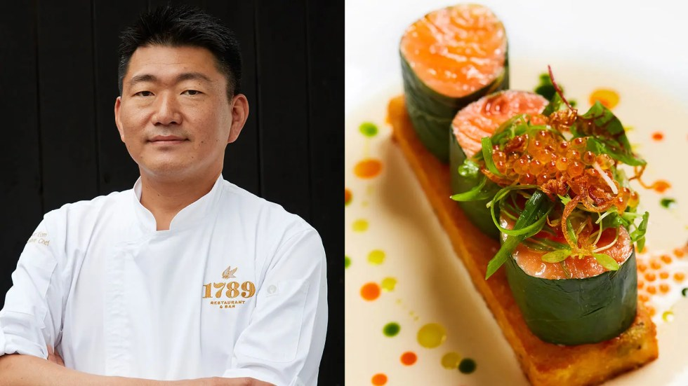 Chef Kyoo Eom; New Zealand King Salmon from 1789 Restaurant