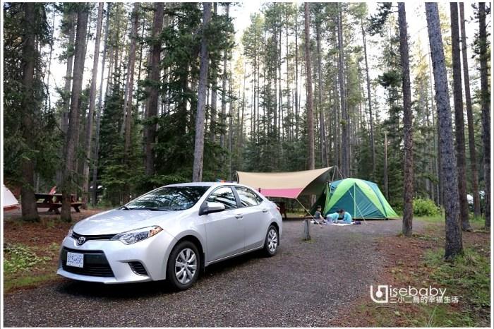 加拿大露營 | 地松鼠就在帳篷前的野生動物園營地。Lake Louise Campground