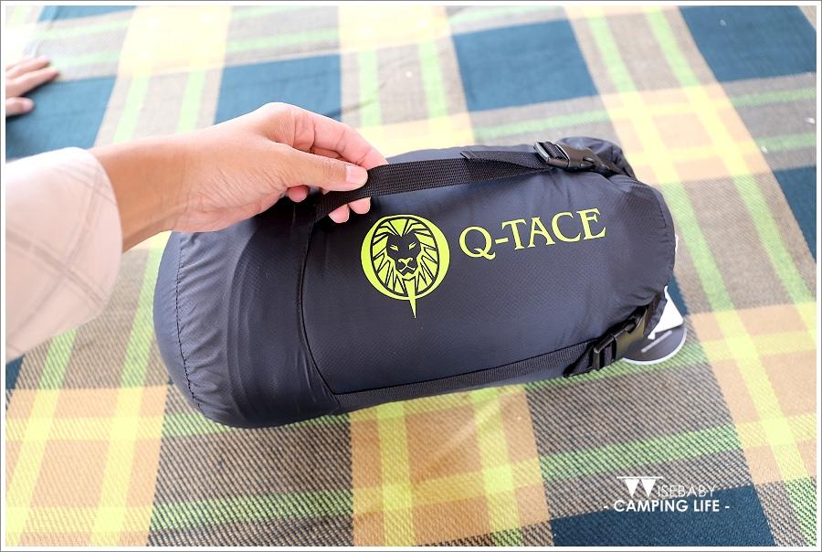 露營裝備   開箱。QTACE羽絨睡袋T1-6001黑綠 - 三小二鳥的幸福生活