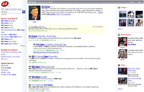 Ask.com Search Result