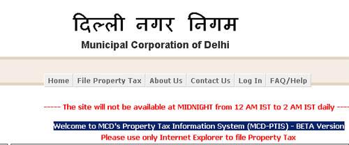 MCD Property Tax
