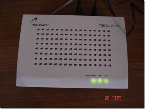 telenet tata indicom broadband adsl 2+  router
