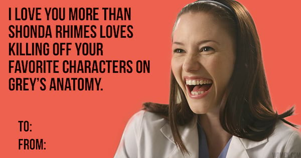 We Made Grey S Anatomy Valentine S Day Cards To Give To