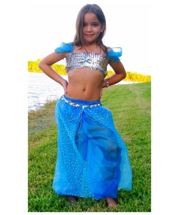 Blue Magic Genie Kids Costume - Girls Costumes