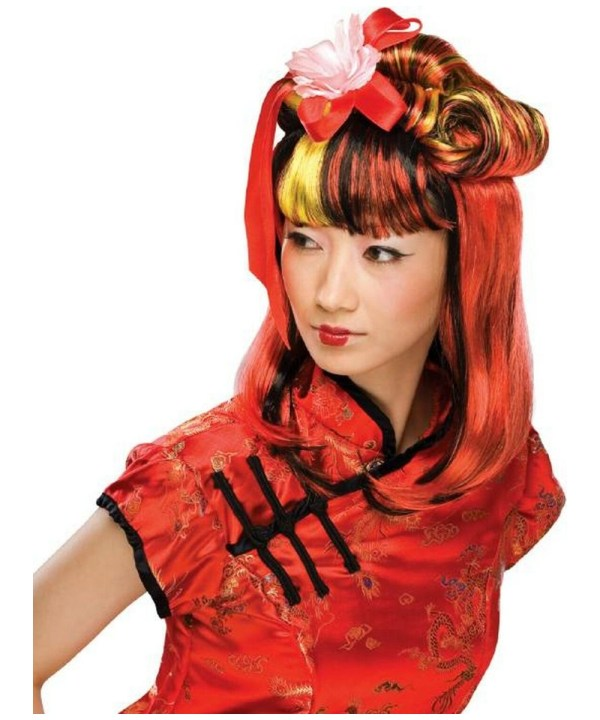 Adult Red Dragon Lady Wig - Halloween Costume