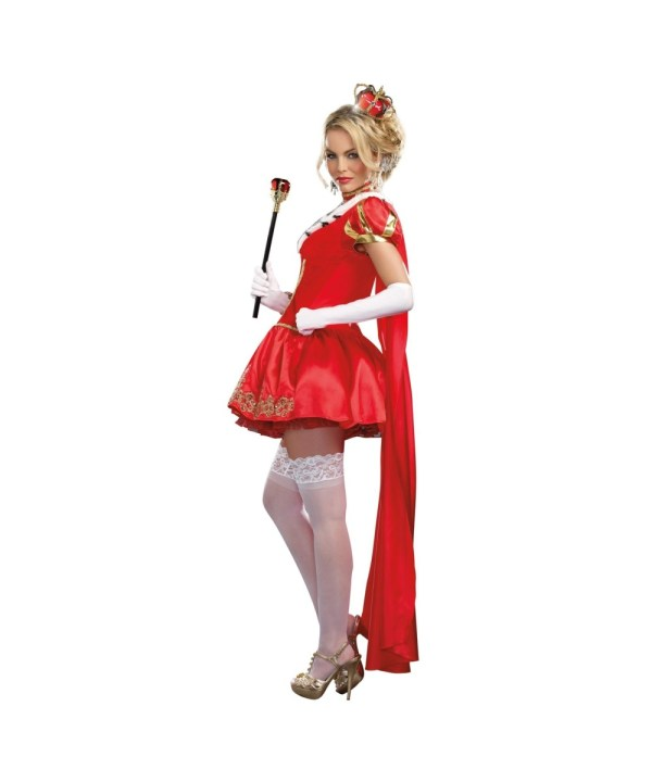 Red Valentine Queen Womens Costume - Sexy