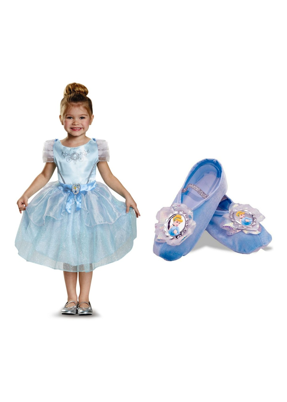Cinderella Girls Costume Dress and Ballet Slippers  Princess Costumes