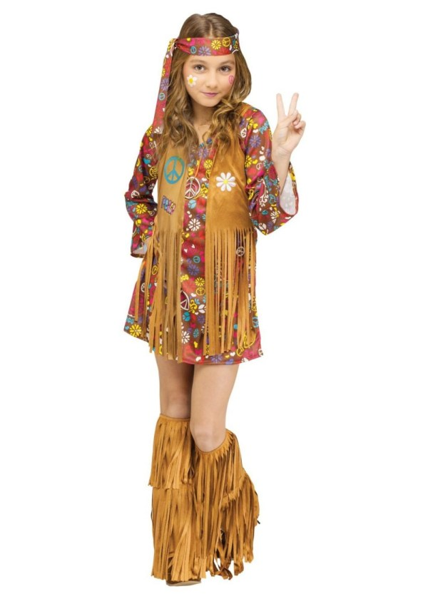 Peace And Love Hippie Girl' Costume - Costumes