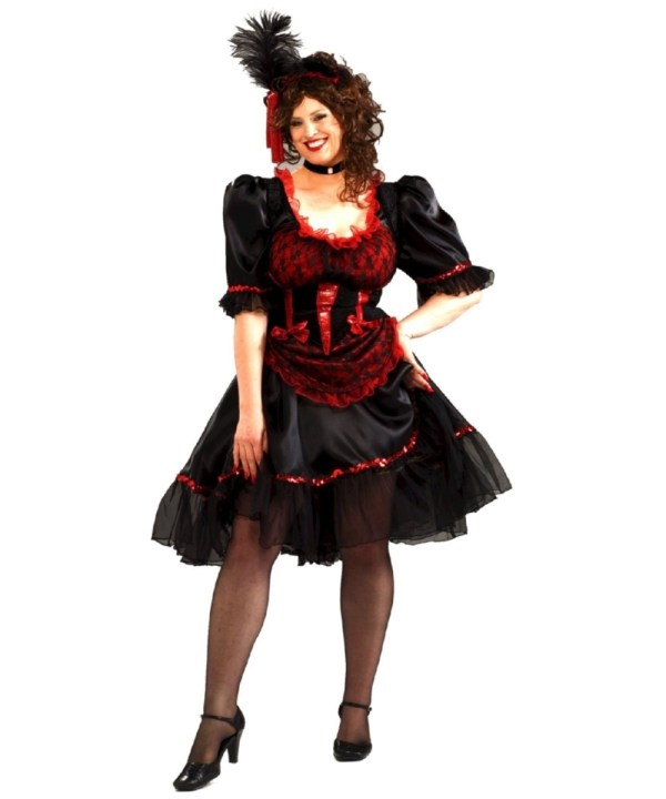 Adult Saloon Girl Size Costume - Women Costumes