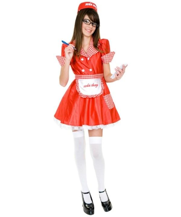 Soda Waitress Teen Costume - Costumes