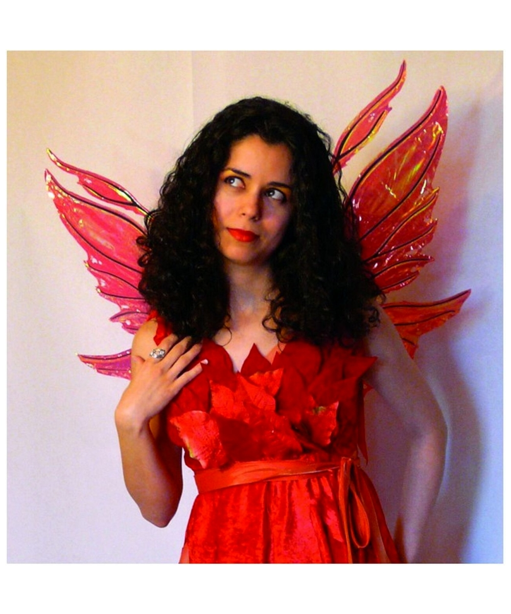Wings Azarelle Red Fairy Wings Costume Accessory At