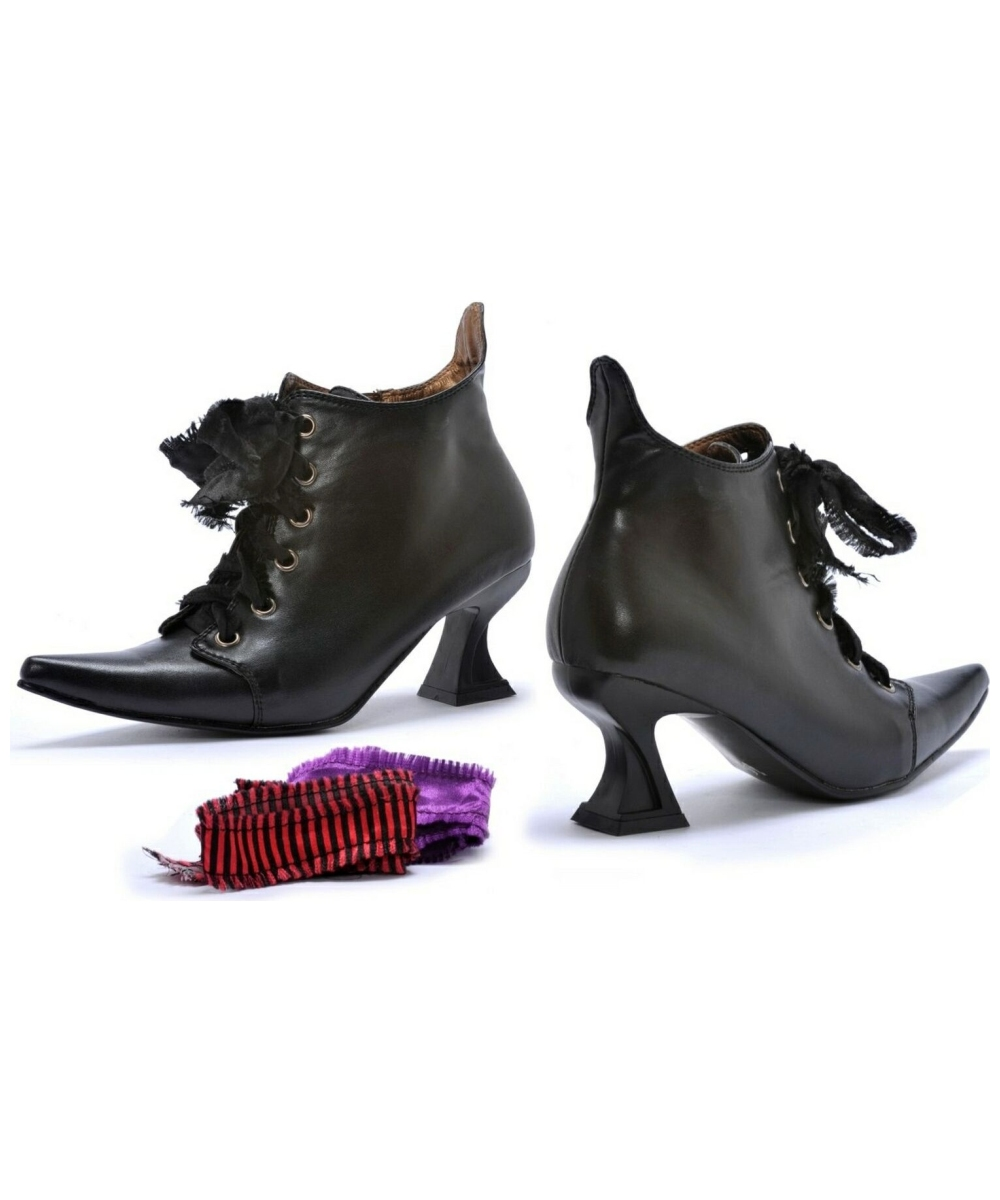 Adult Witch Halloween Boots Costume Shoes