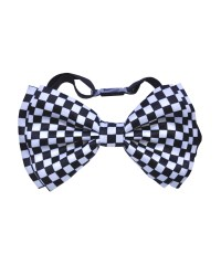 White And Black Checkered Bow Halloween Tie - Halloween ...