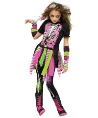 Neon Hipster Zombie Girls Costume - Girls Costume