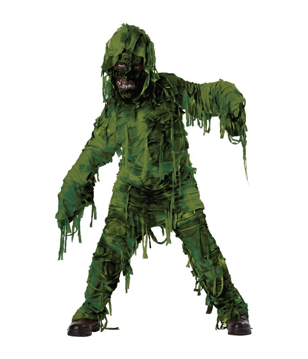 Green Swamp Monster Boys Costume - Scary Costumes