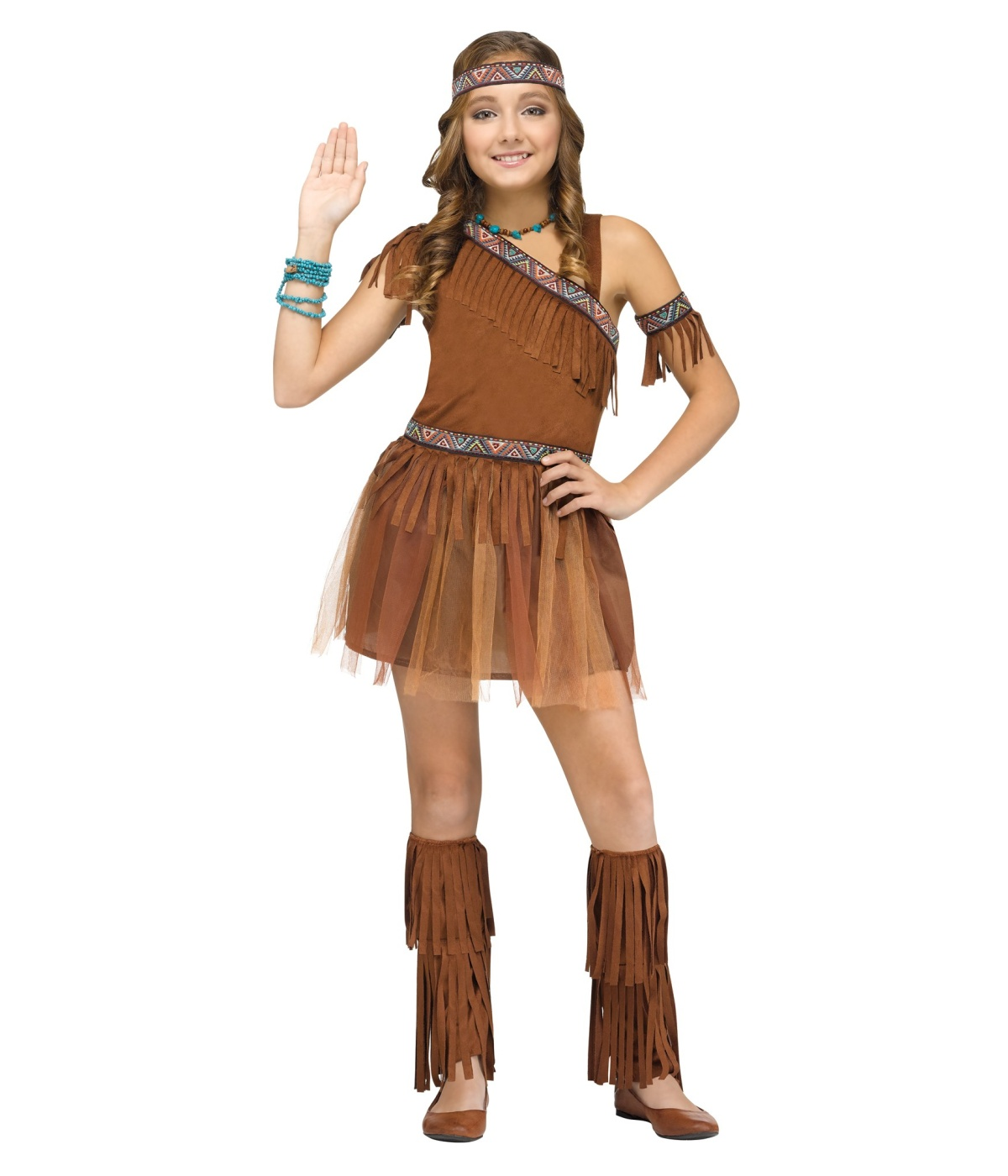 Indian Native American Thanks Giver Girls Costume