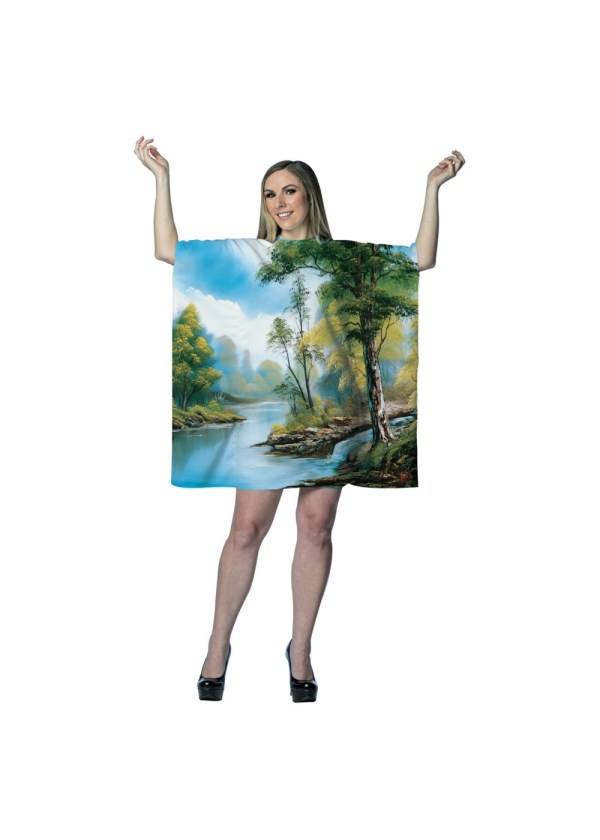 Bob Ross Painting Tree Tunic Dress - Funny Costumes
