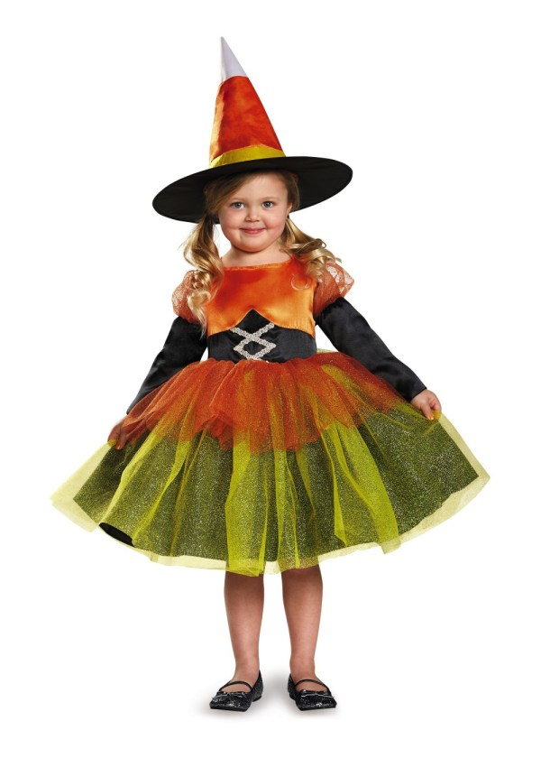Girls Candy Corn Witch Costume - Costumes