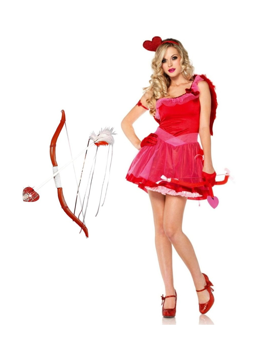 Cupid Women Costume And Bow And Arrow Set Holiday Costumes