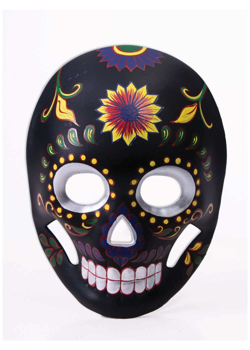 Day of the Dead Mask Black Flower Skull  Masks